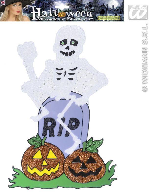 Pegatina gel reutilizable esqueleto rip decoraci n gel - Pegatinas para cortinas ...