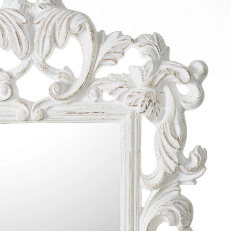 Espejo vintage blanco ornamentos decorativo espejos for Espejos blancos baratos