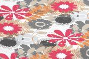 Mantel de flores antimanchas moderno - Ref.24632