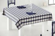 Mantel de mesa de hilo tintado - Ref.24860