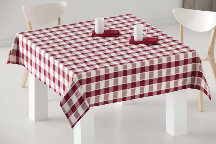 Mantel de mesa de hilo tintado manteles de for Tela para manteles de mesa