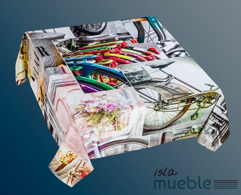 Mantel Estampado Digital De Mesa Vintage Collage Manteles  # Muebles Digitales