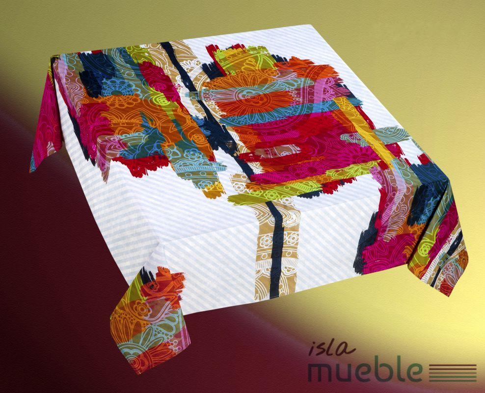 Mantel Estampado Digital De Mesa Moderno Colorfull Manteles  # Muebles Digitales