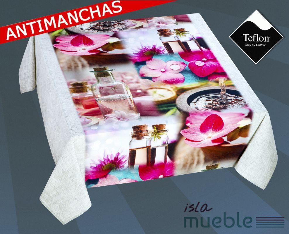 Mantel Antimanchas Tefl N Estampado Digital Esencias 2 Manteles  # Muebles Digitales