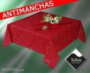 Mantel de Navidad Rojo antimanchas teflón CINTA-2