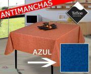 Mantel antimanchas liso con textura azul TEX-2d