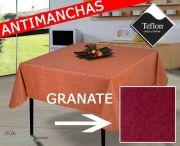 mantel-manteles-antimanchas-oferta-barato-liso-rojo-tex2c-granate-islamueble