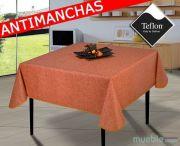 mantel-manteles-antimanchas-oferta-barato-liso-tex2a-naranja-islamueble