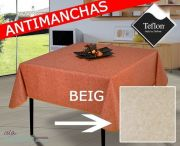mantel-manteles-antimanchas-oferta-barato-liso-blanco-crudo-natural-tex2b-beig-islamueble