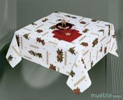 Mantel de Navidad Blanco Rojo LAZO-a