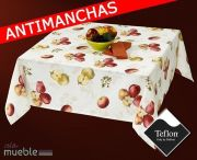 Mantel de mesa antimanchas con frutas APPLE-2