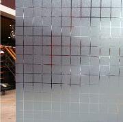 Vinilo glass silver frosty cuadros grandes K3583