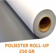 Roll up poliester trasera gris