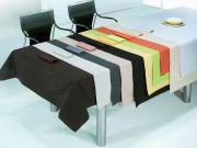 Mantel mesa  liso con servilletas hilo tintado