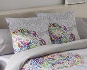 Cojin estampado diseño mandalas 100% algodón  50 x 50 cm