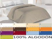 Funda nórdica lisa algodón 100%