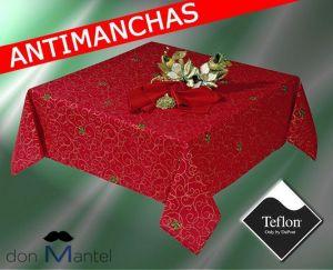 decoracion-mantel-manteles-navidad-antimanchas-rojo-granate-guirnalda-noel-cinta2-don-mantel-mantelerias
