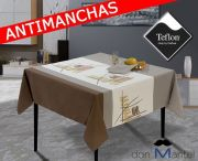 Mantel antimanchas moderno PALM-2