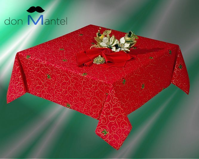 Mantel navidad rojo cinta manteles de navidad don mantel - Manteles para navidad ...
