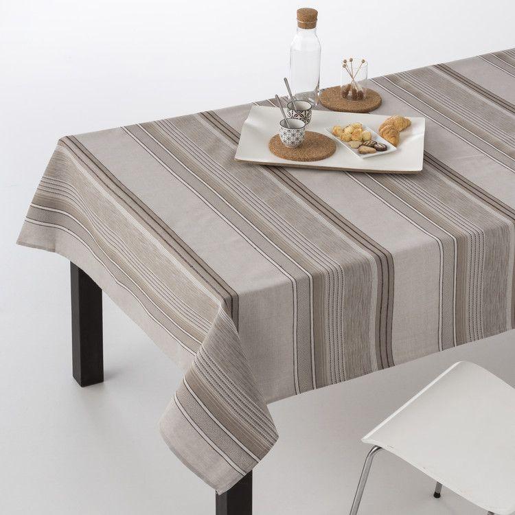 Mantel de mesa jacquard lines manteles de mesa modernos don mantel - Mantel para mesa exterior ...