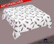 Mantel antimanchas estampado PLUMAS 2