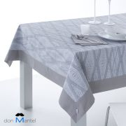 Mantel de mesa Jacquard DIAMOND gris servilletas incluidas