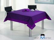 Mantel moderno de rayas aplique MORADO