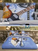 Cojín original estampado GUITAR
