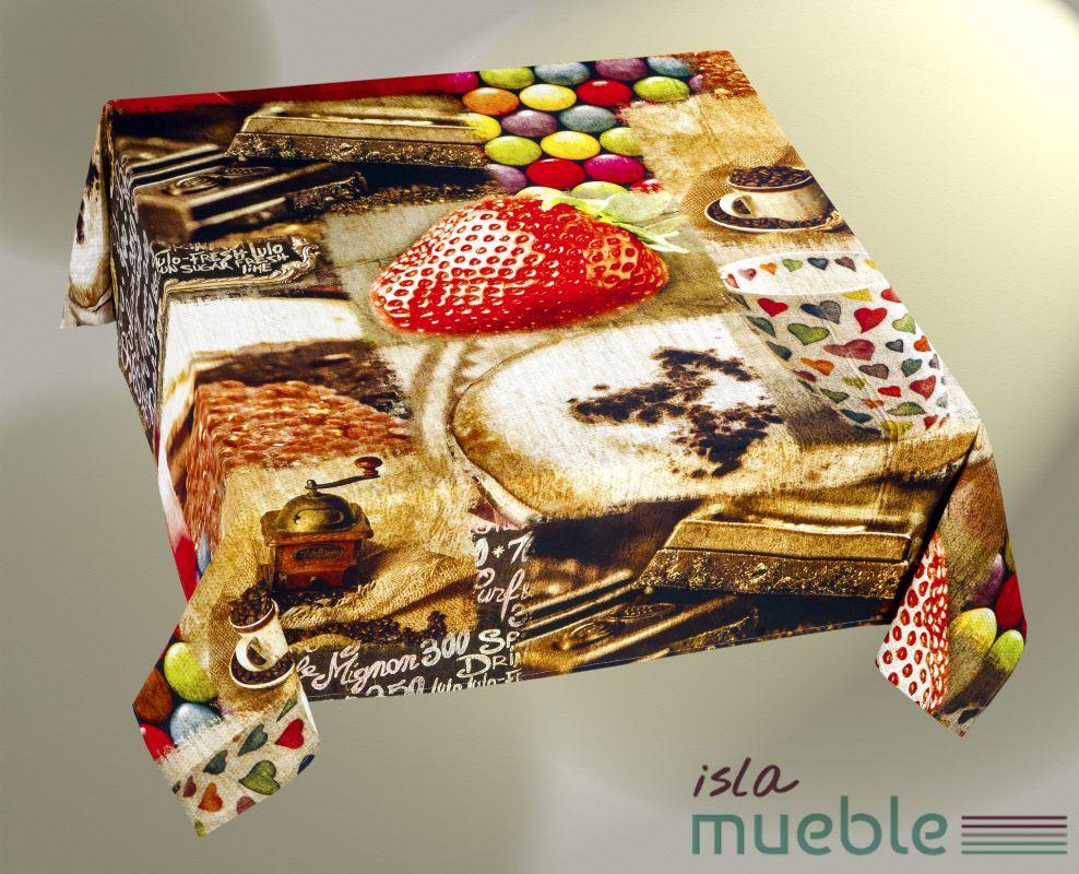 Mantel Estampado Digital De Mesa Moderno Fresh Manteles  # Muebles Digitales